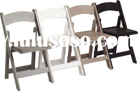 hot sell white wooden wedding folding chairs