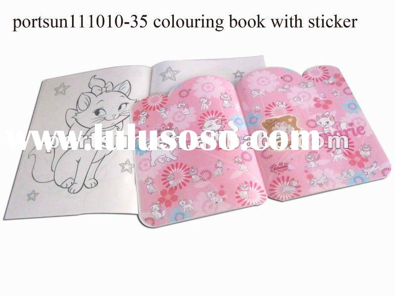 kids cartoon drawing book with sticker