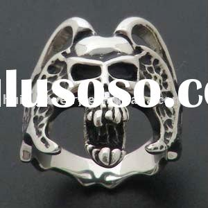 men's 316 stainless steel skull rings