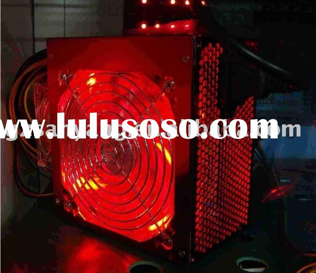 pc power supply 300W~500W (12cm transparent red fan with red LED light)