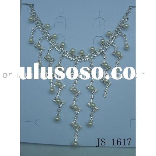 pearl jewelry /silver jewelry /fashion necklace sets/wedding jewelry/bridal necklaces
