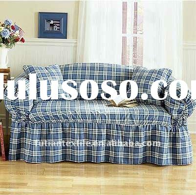 plaid sofa cover