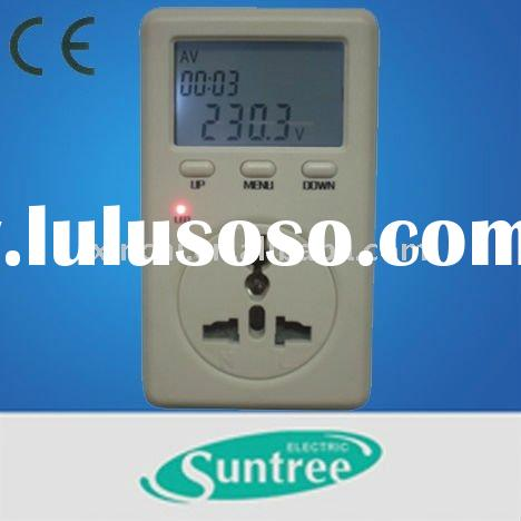 power energy measure instruments plug energy saving digital power meter with socket power tester