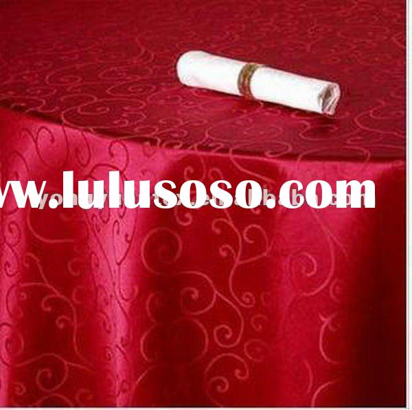 purple color 100%polyester jacquard table cloth/cheap table cloth/wedding table cloth/round table cl
