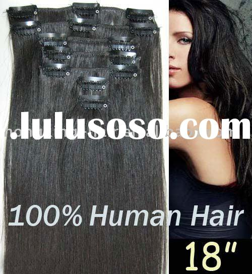 remy hair clip in extensions wholesale price 160g