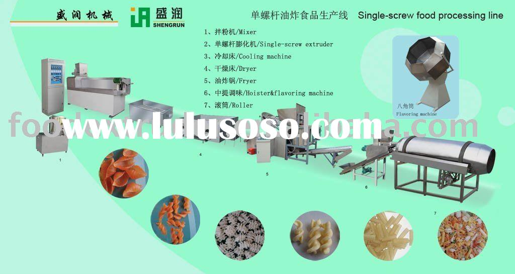 single screw fried food processing line