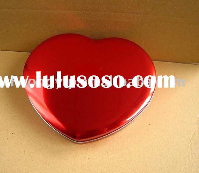 valentine tin box heart shape candy box tin sweet box