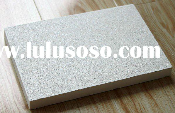 white fiberglass acoustic ceiling tile