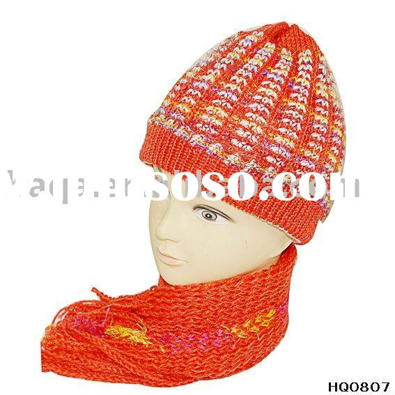 winter knit scarf hat set