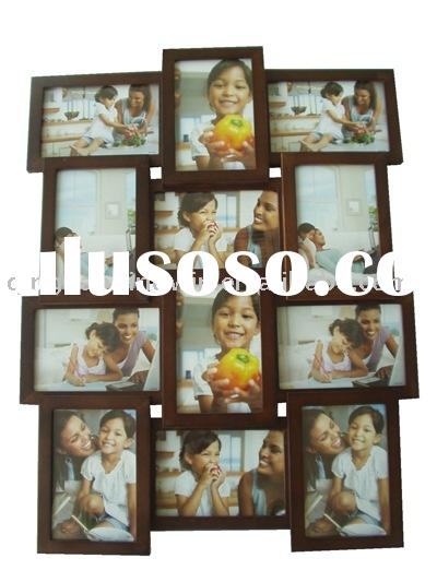 wooden collage photo frame
