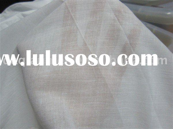 100% cotton belached white muslin fabric