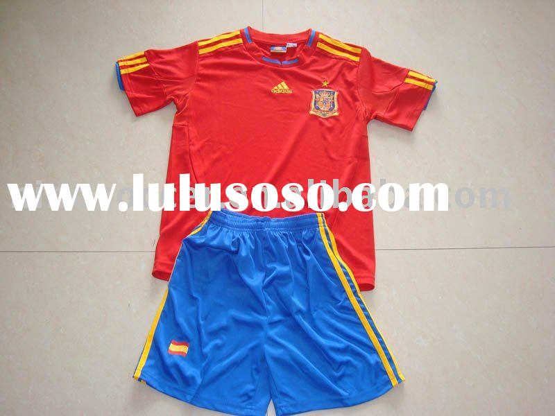100%polyester + dry-fit Kids soccer jersey