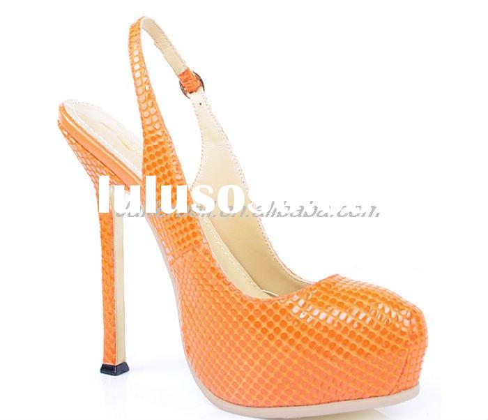 2011 New Arrival!Fashion ladies' high heel slingback shoes