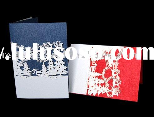 2011 Personalized Laser Cutting Christmas Card HG0926-04