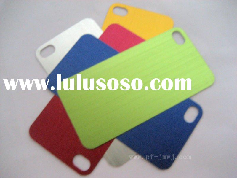 2011 new!!! fashion colorful metal cell phone case for iphone 4G mobile phone+free sample+fast deliv