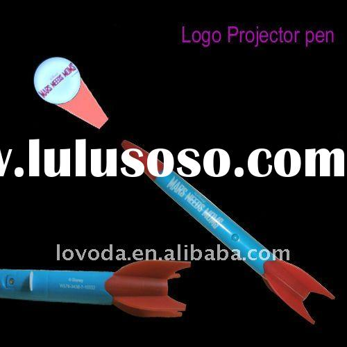 2012 hot promotional gifts / led logo projector pen JFP-055