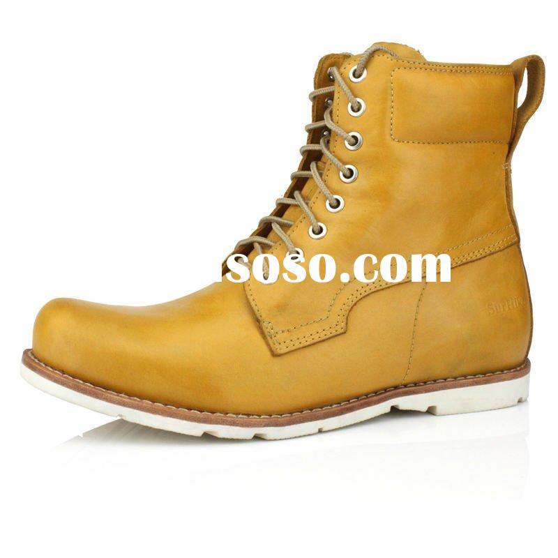 2012 newest fashion hot men leather boots