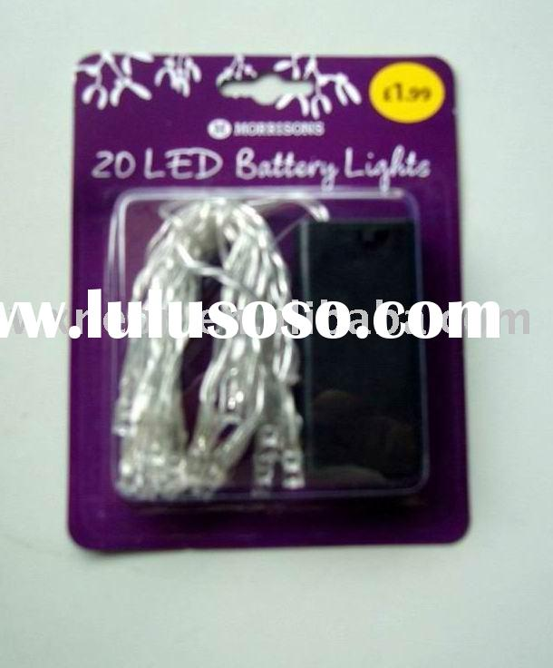 20 led battery string light/battery operated led string light