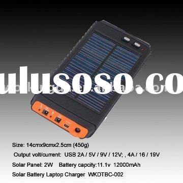 2W portable Universal Solar Backup Power Charger for laptop and mobile phone charger with multi volt