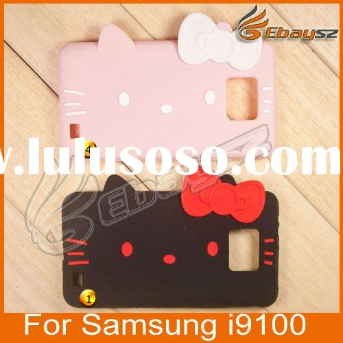 3D Hello Kitty big face silicone cover case for i9100