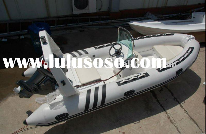 4.8m RIB boat rigid inflatable boat with teak floor
