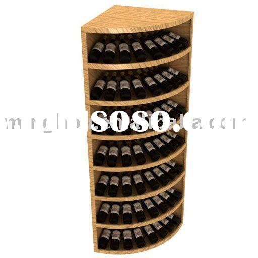 56 Bottle corner table Wine Rack,wooden wine stand,wooden wine bottle rack,made of pine