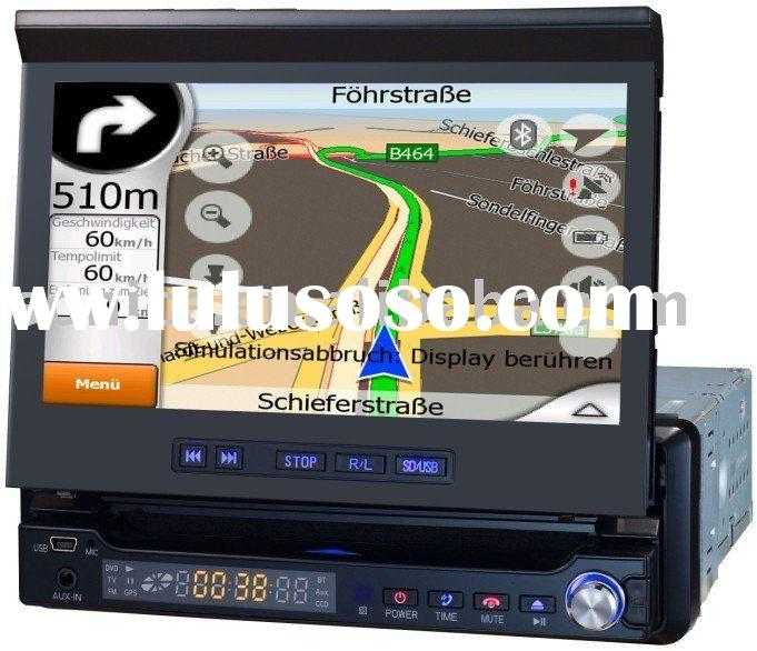 "7"" One Din Car GPS DVD player with Touch Screen+TV/USB/Bluetooth/SD/FM/AM"