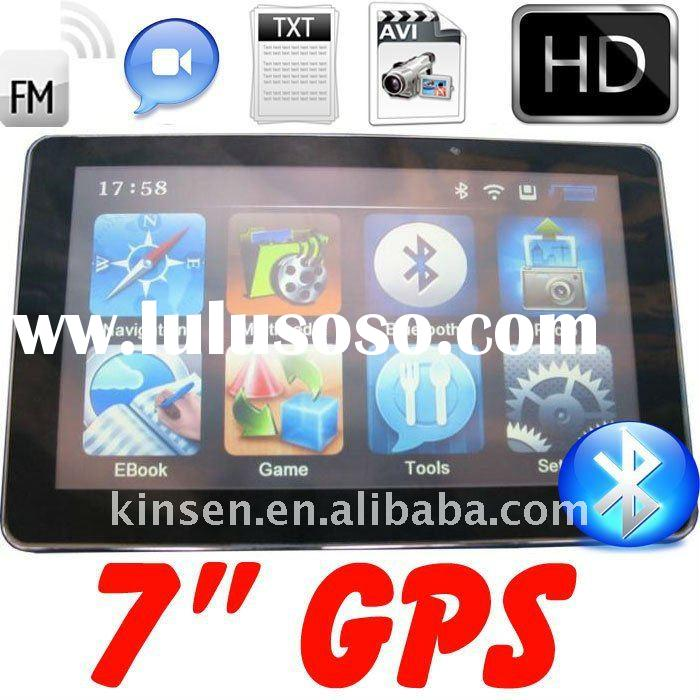 7inch GPS Navigation, Free Map+2GB TF Card, Bluetooh, Av-In, FM Transmitter, MTK468MHz, DDR128MB