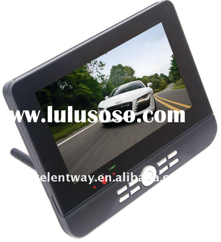"""9"""" dual screen portable dvd player with digital panel"""