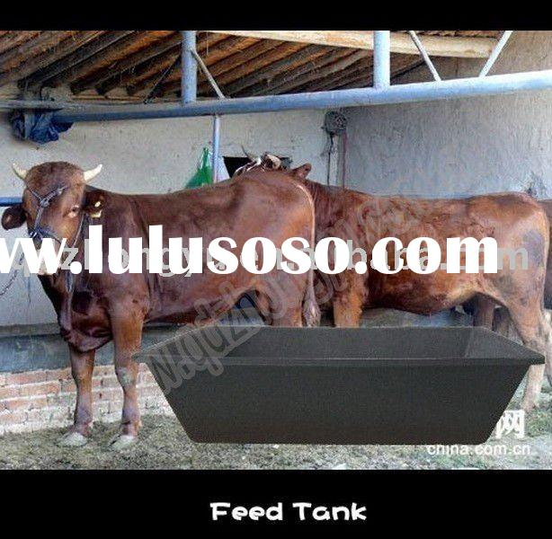 Rubber Feed Trough: Black Plastic Animal Feed Trough With Hook 8.5L For Sale