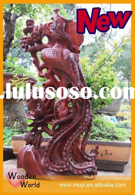 Animal wood carving statue
