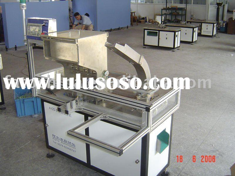 Automatic pvc tube cutting and fitting machine for trigger sprayer