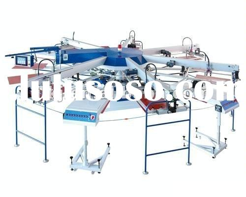 Automatic rotary screen printing machine for garments