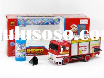B/O Bubble Fire Truck With Light & Music
