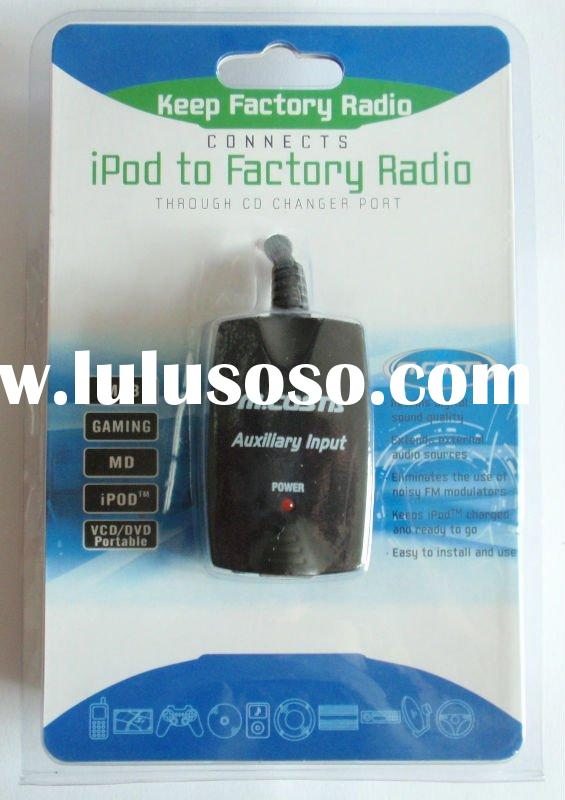 Bluetooth car kit for audio auxiliary input with AUX/USB (CE approval)