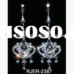 Chandelier earrings/crystal earrings/rhinestone earrings/silver earring/dangle earrings/cz earring/i