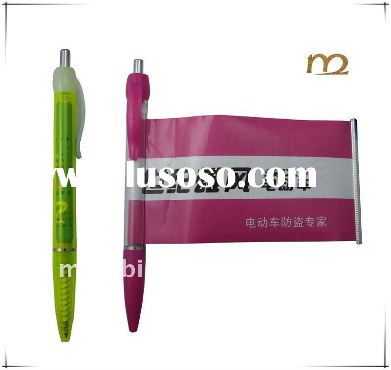 Cheap price and good quality plastic ballpoint banner pen