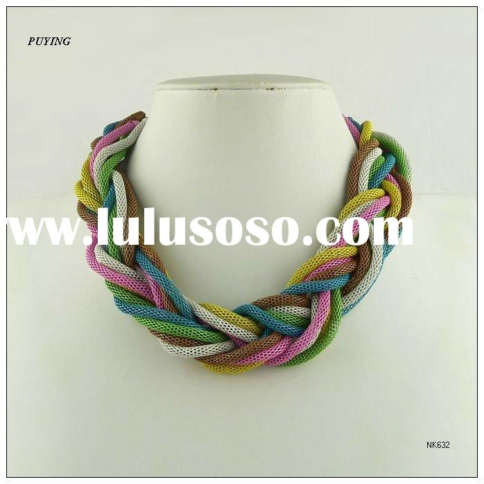 Chic Zinc Alloy Lady Costume Necklace,Fashion Order Jewelry