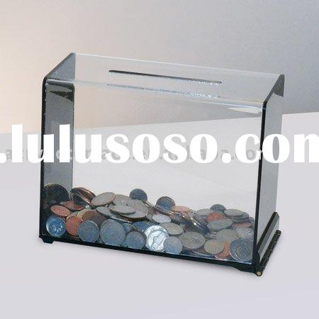 Clear Acrylic Money Box With Lock