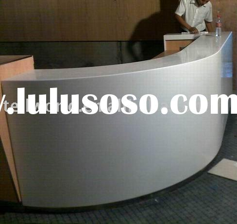 Corian solid surface reception counter