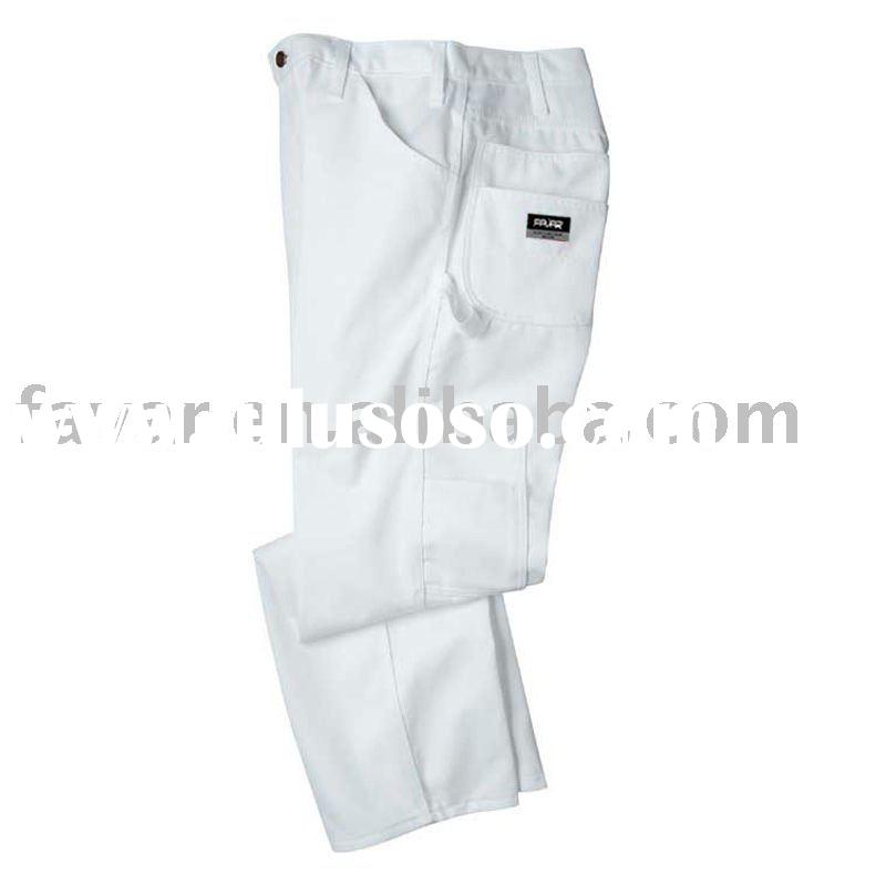 Cotton Twill White Casual Pants