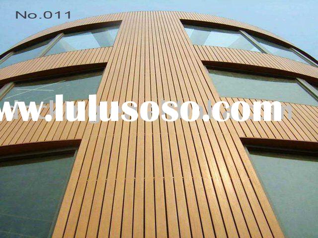 Exterior wood panel for wall