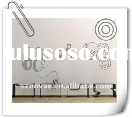 F006 Removable New Design Music Wall Sticker Paper Sticker