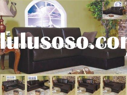 High Grade Leather Sofa Bed In L Shape