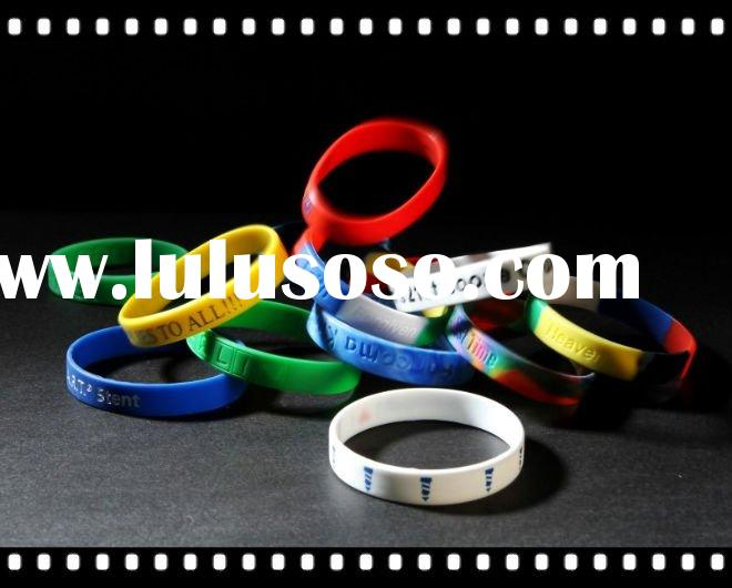 Hot Popular Silicone Rubber Bracelet with Many Colors