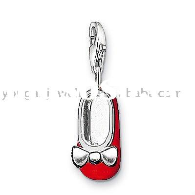 Hot Sale Fashion Silver Jewelry Charm Baby Shoe 0679