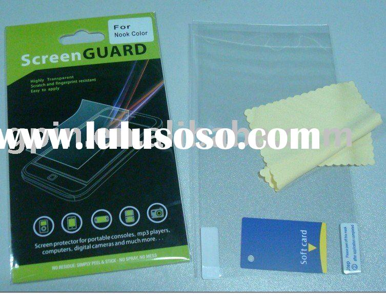 Hot selling Clear anti scratch Screen protection film for Nook color