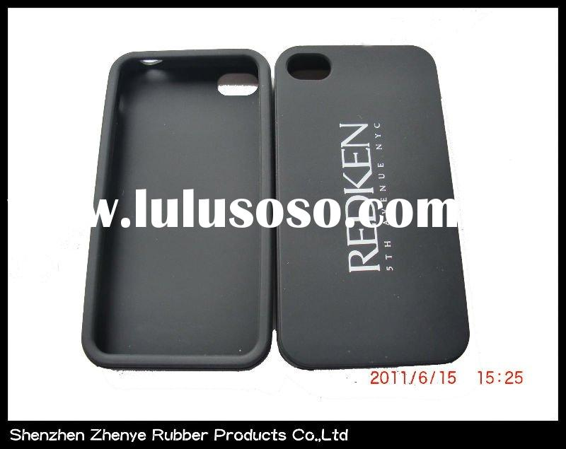 Hotsell silicon mobile phone case for iphone 4 with printed logo
