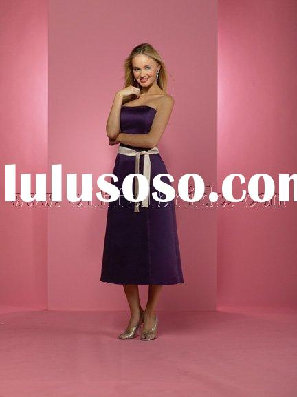 LY-6971 light and dark purple prom evening dresses \gown dress \fashion designer evening dress