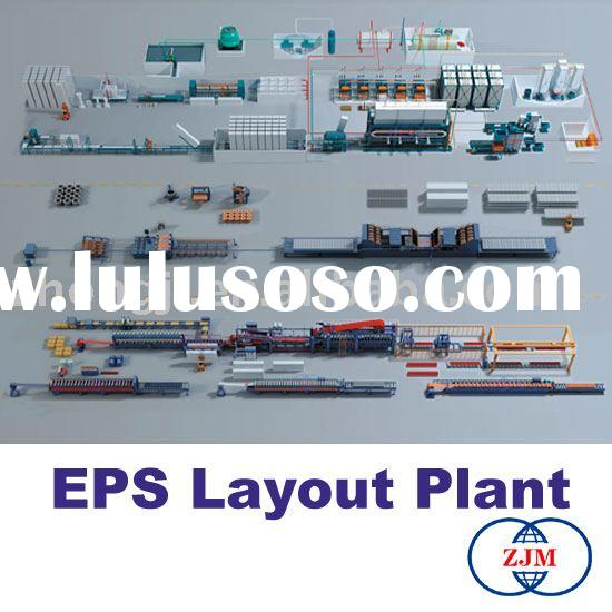 Layout of a EPS Molding Plant(EPS Production Line,EPS Machinery)
